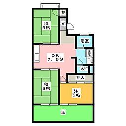 ファミール西前田 A棟[1階]の間取り