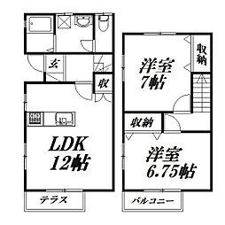 [テラスハウス] 静岡県浜松市南区小沢渡町 の賃貸【/】の間取り