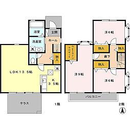 [テラスハウス] 東京都八王子市めじろ台4丁目 の賃貸【/】の間取り