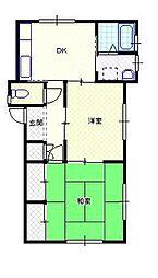 新潟県新発田市本町4丁目の賃貸アパートの間取り