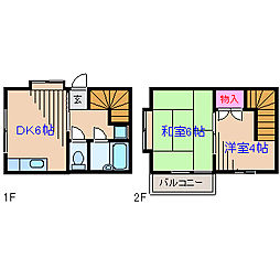 神奈川県横浜市港北区高田西5丁目の賃貸マンションの間取り