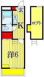 ドゥマン[3階]の間取り
