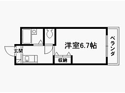 稲井ハイツ北山[2階]の間取り