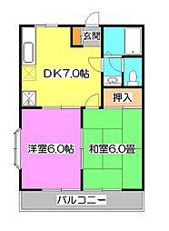 エクセレンス尾崎A[2階]の間取り