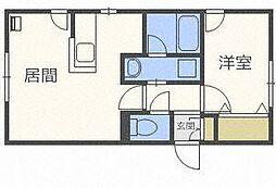 北海道札幌市北区北三十一条西4丁目の賃貸マンションの間取り