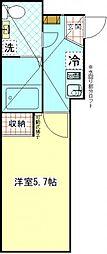 ウィンレックス横須賀[204号室]の間取り
