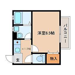 静岡県静岡市駿河区下川原3丁目の賃貸アパートの間取り