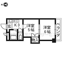 プリマベーラ西京極(旧ハウスセゾン西京極[403号室]の間取り