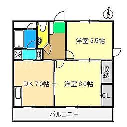 カーサMoTo[2階]の間取り