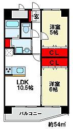 E.POPULAR Ⅱ[2階]の間取り