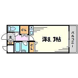 ヴィユ江上[2階]の間取り