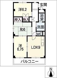 ソレアード81A[2階]の間取り
