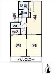 エクセル梅ヶ丘[2階]の間取り