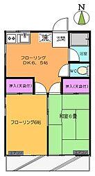 第1コスモコーポ[2階]の間取り