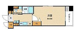 東急田園都市線 池尻大橋駅 徒歩7分の賃貸マンション 6階1Kの間取り
