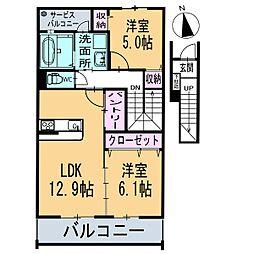 フィオーレ 2階[204号室]の間取り