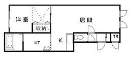 北海道滝川市東町3丁目の賃貸アパートの間取り