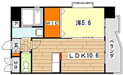 エビスジャルダンM&KII[4階]の間取り