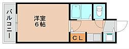 キャッスルマンション箱崎B[3階]の間取り