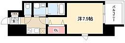 パルティール黒川本通り 10階1Kの間取り