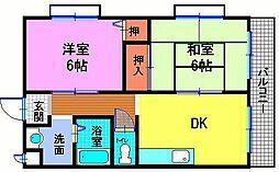 東建マンション[2階]の間取り