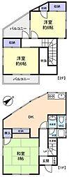 [一戸建] 千葉県八千代市大和田 の賃貸【/】の間取り