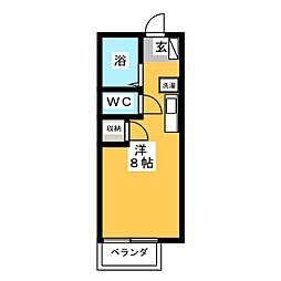 オゼットワールB[2階]の間取り