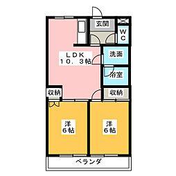 フォレスト赤池 A棟[2階]の間取り