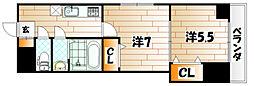 福岡県北九州市戸畑区千防3の賃貸マンションの間取り