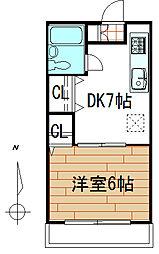 コーポあすか[2階]の間取り