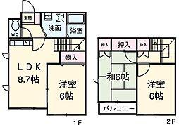 [テラスハウス] 愛知県安城市高棚町中島 の賃貸【/】の間取り