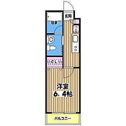 KWプレイス東小金井[1階]の間取り