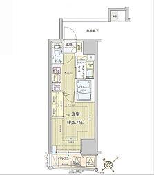 東京メトロ南北線 白金高輪駅 徒歩7分の賃貸マンション 2階1Kの間取り