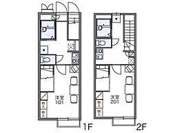 レオパレスサニープレイス[2階]の間取り