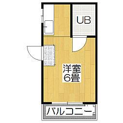コーポ京趣苑[20号室]の間取り