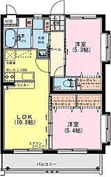 (仮称)日南・星倉マンション 3階2LDKの間取り