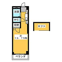 豊田ハイツ A[3階]の間取り