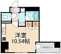 東京都台東区柳橋2丁目の賃貸マンションの間取り