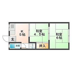 [テラスハウス] 大阪府大阪市平野区平野西4丁目 の賃貸【/】の間取り