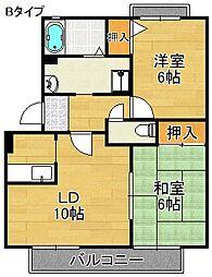 サウスガーデン[2階]の間取り