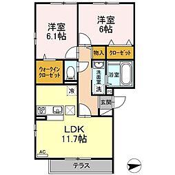 仮)D-room戸田[101号室]の間取り