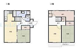 JR高徳線 勝瑞駅 徒歩30分の賃貸一戸建て 1階4DKの間取り