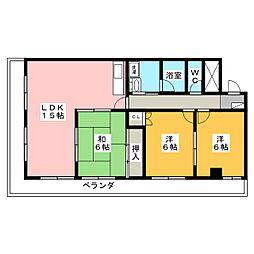 ユウチマンション[1階]の間取り