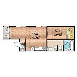 ルシアコート庄[2階]の間取り