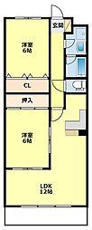 K'sマンション[204号室]の間取り
