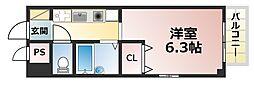 クレアール六甲[5階]の間取り