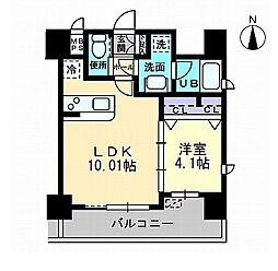 ラエスパシオ箱崎[2階]の間取り