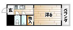 福岡県北九州市戸畑区中原西1丁目の賃貸マンションの間取り