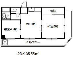 兵庫県神戸市灘区天城通3丁目の賃貸マンションの間取り
