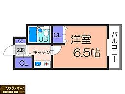 大阪府堺市北区中長尾町1丁の賃貸マンションの間取り